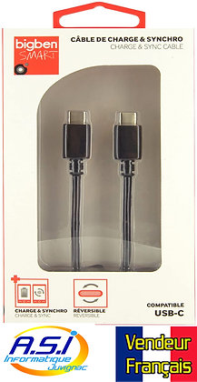 Câble USB C / USB C 1m de Charge et Sync VENDEUR FRANÇAIS