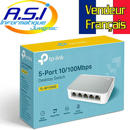 Switch de bureau 5 ports TP-Link RJ45 10/100 Mbps