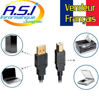 Câble USB pour Imprimante 15m USB-A male vers USB-B male USB2 VENDEUR Fr