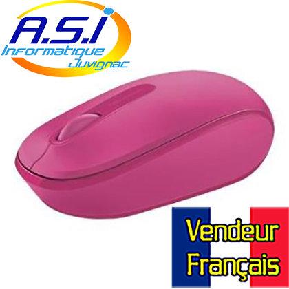Souris Sans-fil Microsoft 1850 Rose Fushia VENDEUR FRANÇAIS