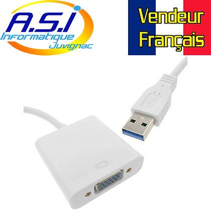 Adaptateur USB 3 vers VGA convertisseur transformateur ecran