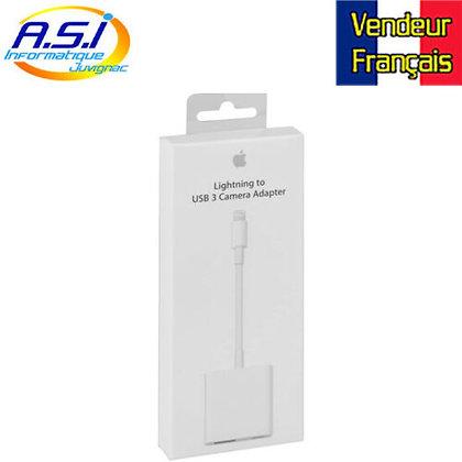 Adaptateur APPLE lightning vers USB 3 pour camera pour Iphone Ipad VENDEUR FR