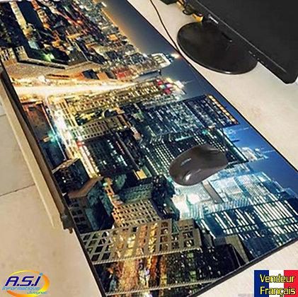 Grand Tapis souris Gamer ordinateur Gaming New York City Street Building Ville