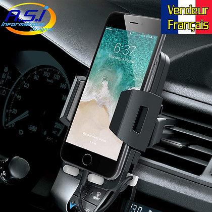 Support Auto Téléphone portable / fixation Smartphone Aération voiture