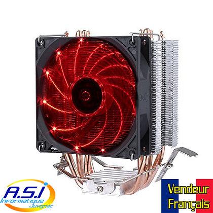 Ventirad /Ventilateur CPU Processeur 92mm Intel et AMD Rouge