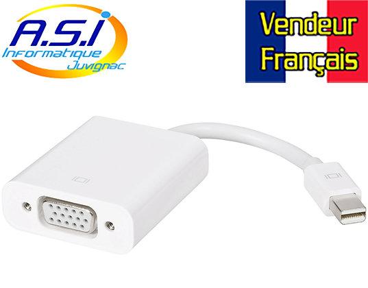 Adaptateur mini display port vers VGA VENDEUR FRANÇAIS