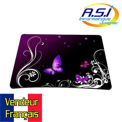 Tapis de souris papillon violet et noir VENDEUR FRANÇAIS