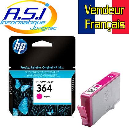Cartouche d'encre HP 364 MAGENTA (rouge -rose)