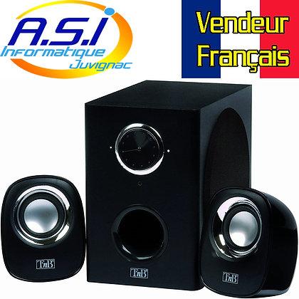 Haut-parleurs ordinateur T'nB MX series 2.1 pr PC et Mac Noir VENDEUR FRANCAIS