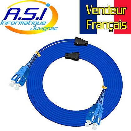 Fibre optique Duplex SC Blindé, câble 150m SC-SC VENDEUR FRANCAIS