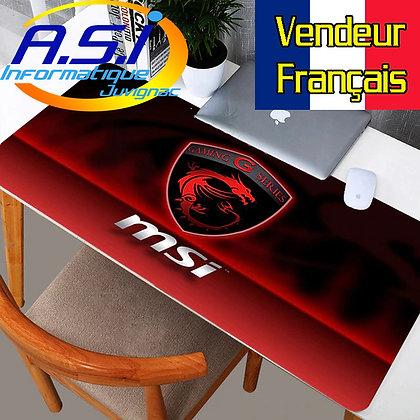 Grand Tapis de souris Gamer ordinateur MSI Rouge Noir G Gaming XL VENDEUR FRA