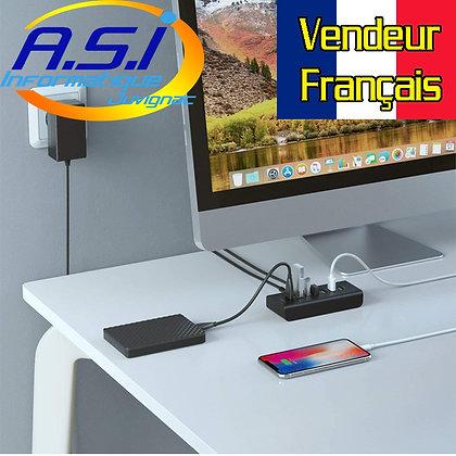 Hub USB 3.0 / Switch / Splitter / Prise multiple alimenté  7 ports + charge