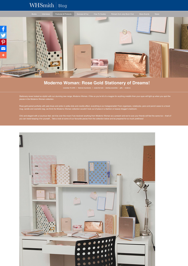 Moderno Woman: Rose Gold Stationery of Dreams