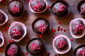 Recipe | Dark Chocolate and Raspberry Truffles