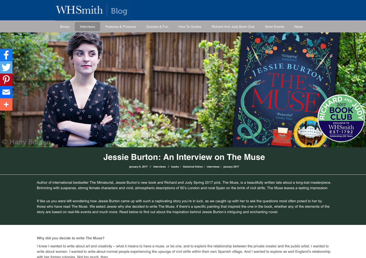 Jessie Burton: An Interview on The Muse