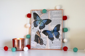 How To Make A Vintage Book Print