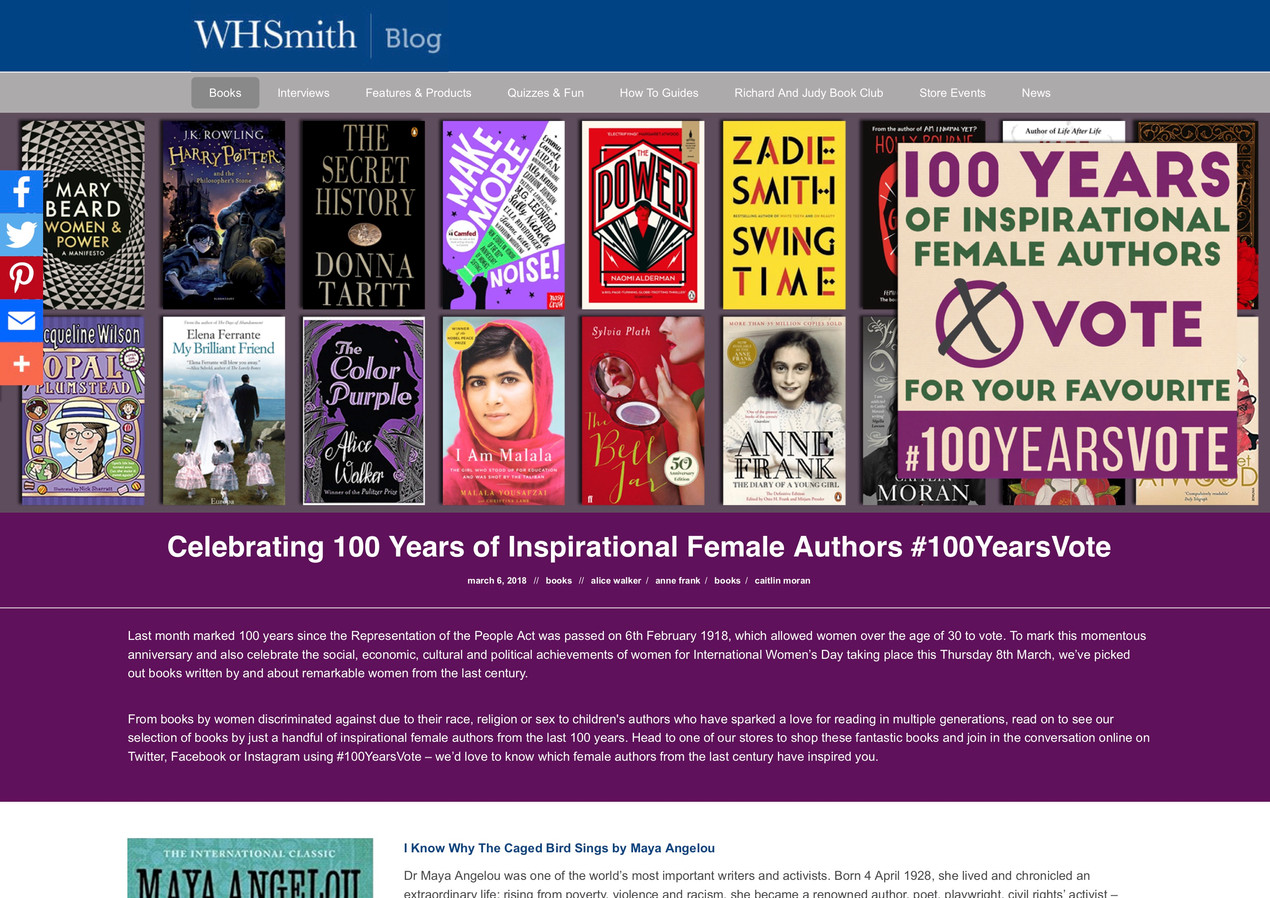 Celebrating 100 Years of Inspirational Female Authors