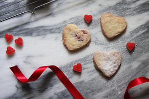 Recipe | Cherry Shortbread Hearts