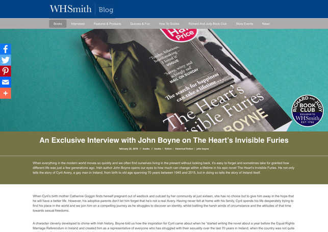 An Exclusive Interview with John Boyne