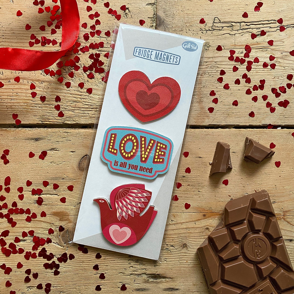 Valentine's Day fridge magnet gift set
