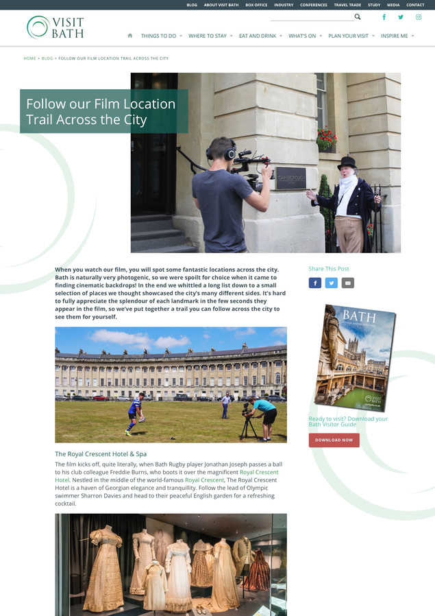 Follow our Film Location Trail in Bath