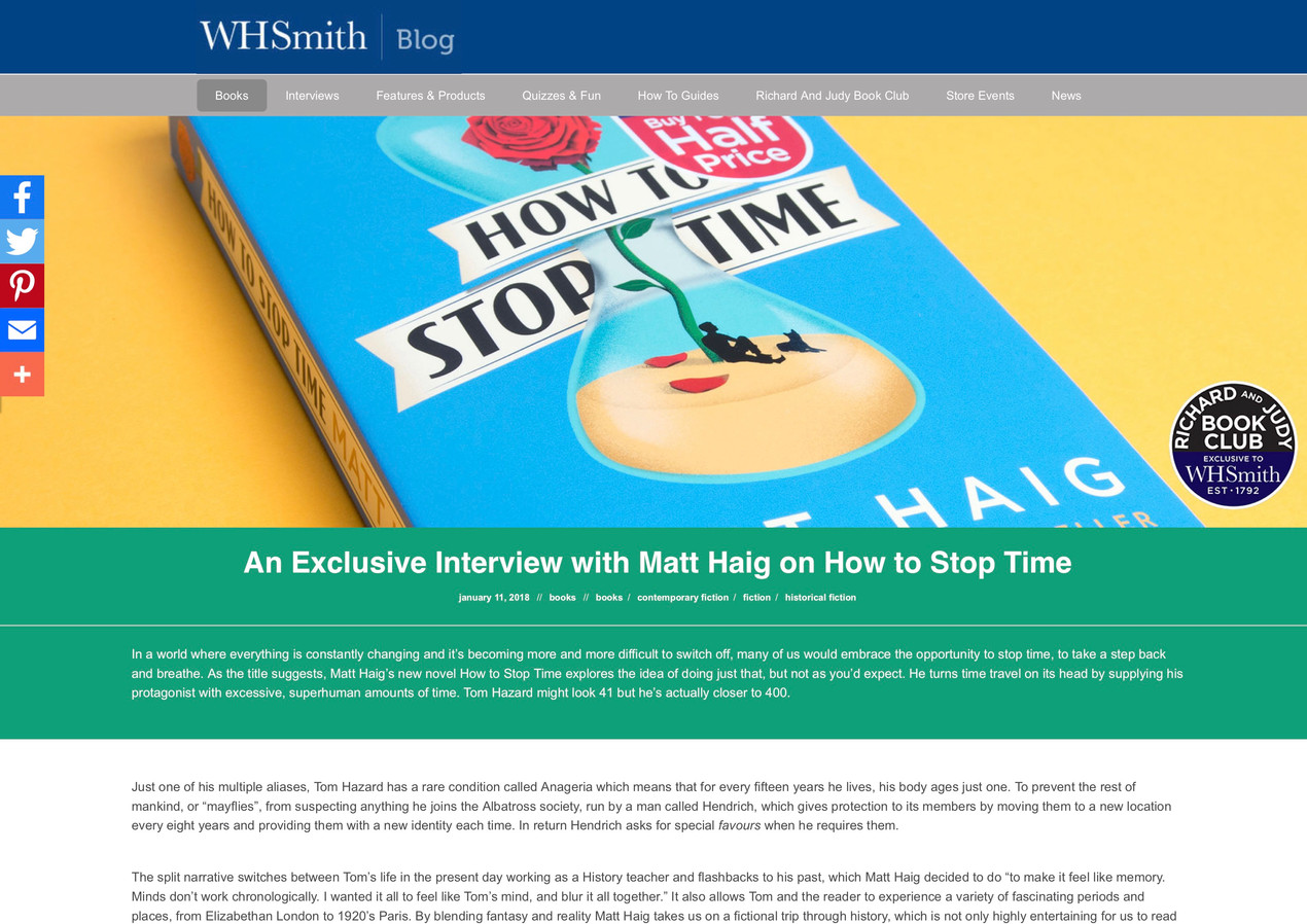 An Exclusive Interview with Matt Haig
