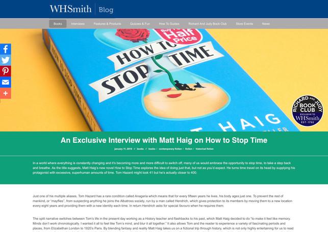 An Exclusive Interview with Matt Haig
