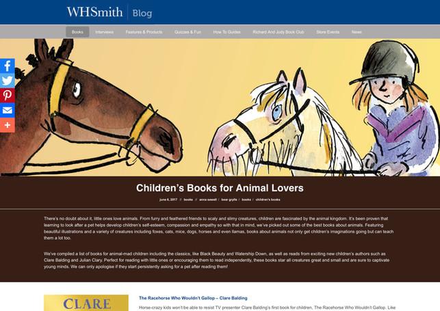 Children's Books for Animal Lovers - WHS