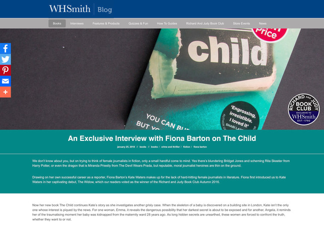 An Exclusive Interview with Fiona Barton