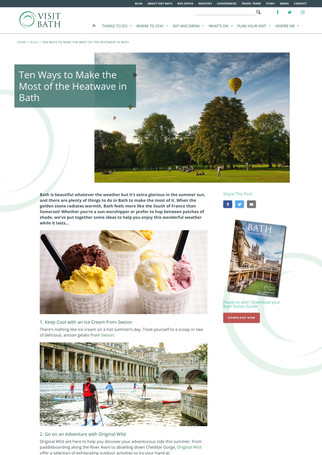 Things to Do in Bath In The Summer