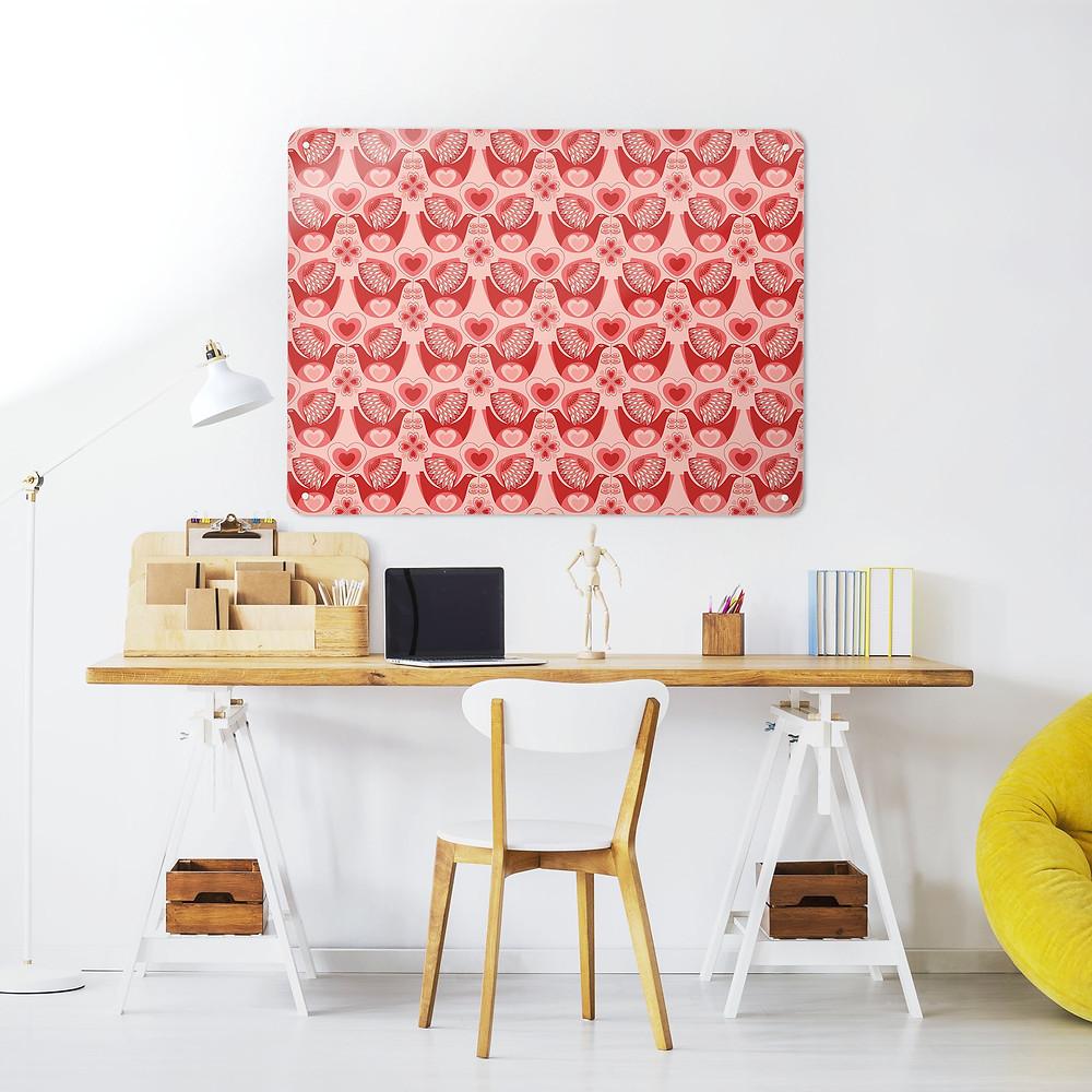 Retro Love Bird Magnetic Wall Art