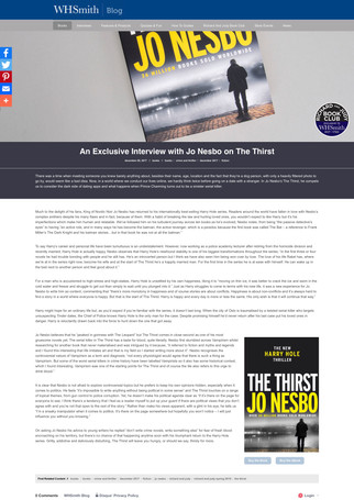 An Exclusive Interview with Jo Nesbo