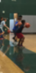 Youth basketball dribbling