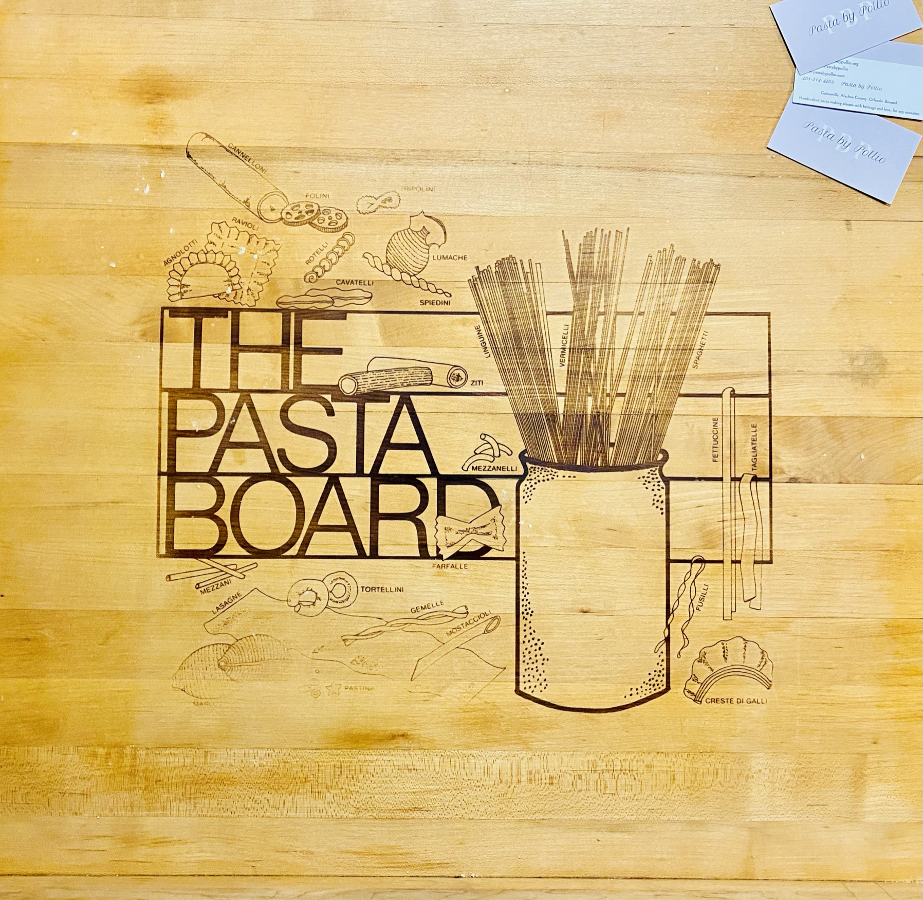 My infamous 60 year old pasta board