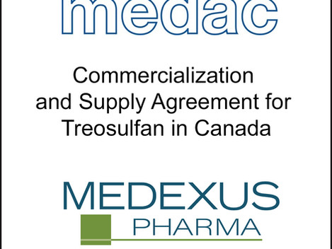 Sage Represents medac GmbH in Deal for Commercialisation Agreement for Treosulfan in Canada