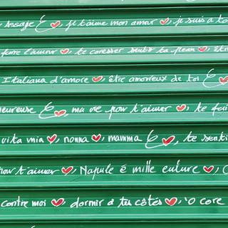 La courbe de tes yeux fait le tour de mon coeur. Paul Eluard - Rideau d'In love streetart <3