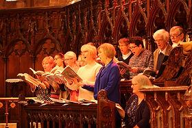 choir practice at St Matthew's
