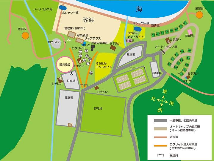 糸ヶ浜海浜公園内地図