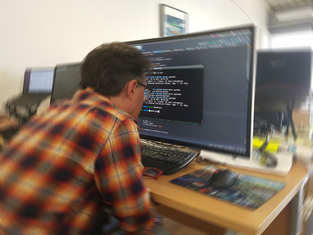 National Coding Week - A visually impaired developer's setup