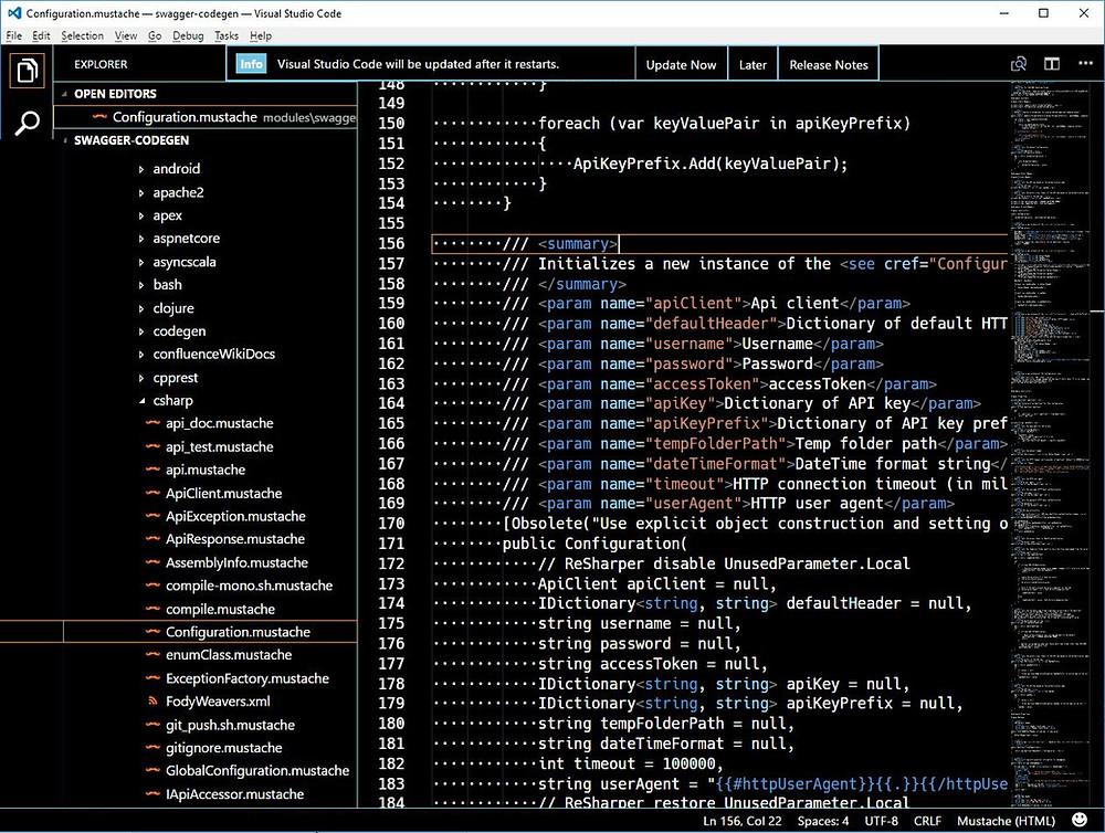 Screenshot of Visual Studio Code showing high-contrast theme.