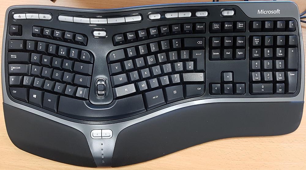 Ergonomic split-layout keyboard