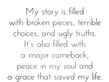 ALL YOU HAVE IS YOUR LIFE STORY.