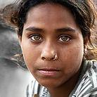 foto online bronzen sticker Pushkar-girl