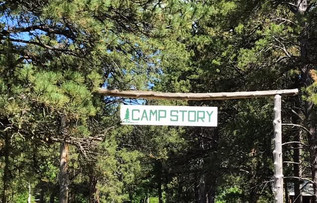 Camp Story sign