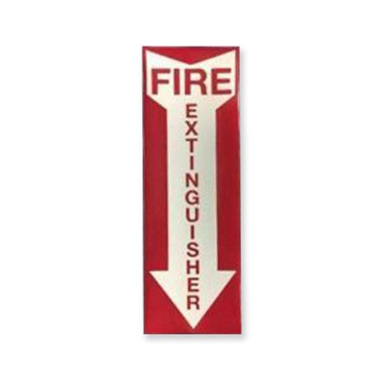 ILLUMINATING FIRE EXTINGUISHER ADHESIVE LABEL