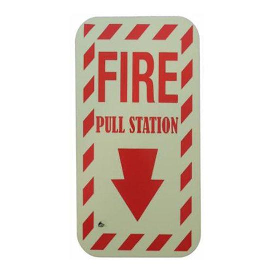 "ILLUMINATING FIRE PULL SIGN (5.5""x10"")"