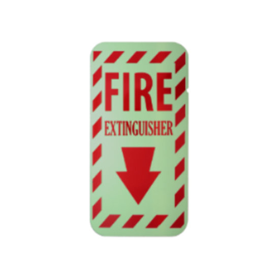 "FIRE EXTINGUISHER ILLUMINATING SIGN (6""x12"")"