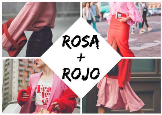red pink outfit