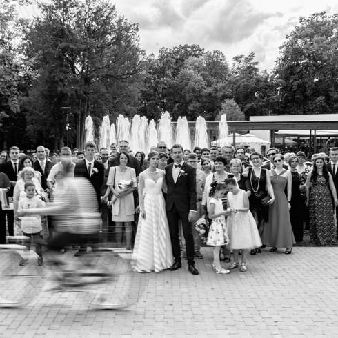 Vicces esküvői csoportkép