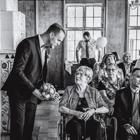 Megható esküvői pillanat